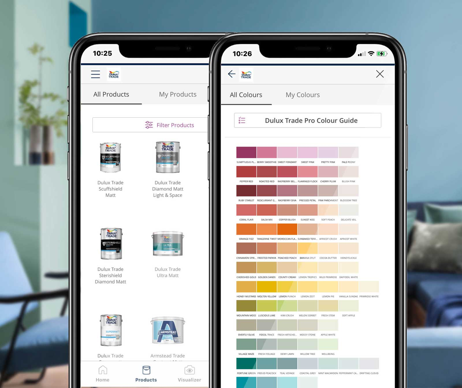 Dulux Trade app for smartphone